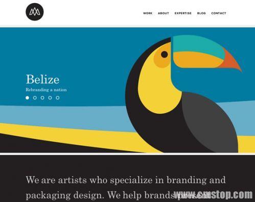 12个使用醒目色彩的网站作品示例-郑州网站建设